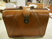 Vintage Geniune Split Cowhide Leather Doctors Satchel / Briefcase Bag