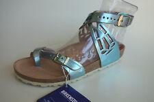 new BIRKENSTOCK Leather Sandals YARA ASMARA Metallic Azzurro EU38 US7 UK5 Narrow