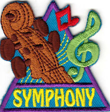 """SYMPHONY"" - MUSIC - CLASSICAL - MUSICIANS - Iron On Embroidered Patch"