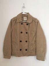 Womens OLD NAVY Khaki Double Breasted Jacket Coat XL Extra Large Cotton Lined