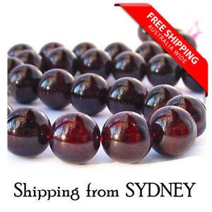 Natural Stone Dark Red Garnet Round Loose Beads 6mm/8mm
