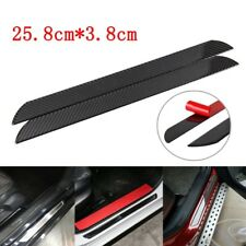2pcs Carbon Fiber Car SUV Scuff Plate Door Sill Panel Step Protectors Cover Trim