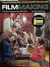Film Making Magazine Sept 1970 motion picture super 8mm 16mm Cameras movie cine
