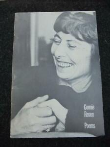 Poems, Connie Rosen - VERY GOOD condition privately printed booklet, late 1970s?