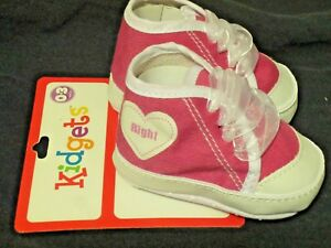 Babys First Pink Tenner Shoes 0-3 Month New