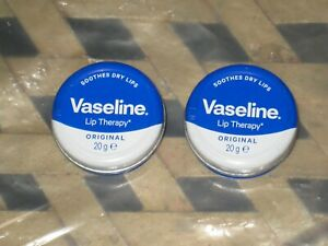 2 x Vaseline Original Lip Therapy Balm Petroleum Jelly 20g Pocket Size Tin