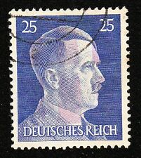 USED 25pf Hitler Head Obliteration Post WWII Violet E