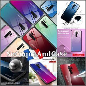 Case Cover Back Gradient Color Glass Hybrid Xiaomi Redmi 9