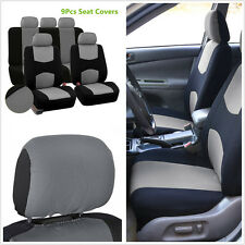 9 Pcs Seat Covers Mesh Polyester Seat Protector Front+Rear Cover For 5-Seats Car