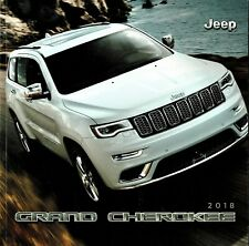 2018 Jeep Grand Cherokee Trailhawk Overland SRT FL Sales Brochure W/Buyes Guide