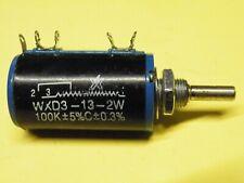 10 Turn Potentiometer 10K 2W Multiturn Panel Mount Fine Adjust 4mm Shaft GP23
