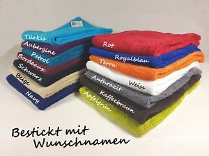 Handtuch  Duschtuch  Badetuch mit Namen bestickt | Stickerei | Bestickung |