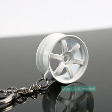 Mini Wheel Rim TE37 Style Zinc Alloy Keychain Key Chain Keyring  Charm Pendent