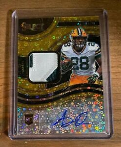 2020 PANINI SELECT AJ DILLON ROOKIE PATCH AUTO RPA GOLD /10 ~ PACKERS