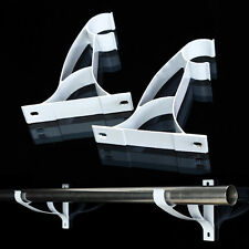 2pcs Aluminum Double Curtain Rod Poles Drapery Bracket fit 25mm Drape Rods