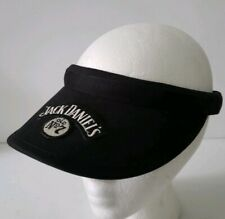 JACK DANIELS black White Cotton Logo Visor Cap