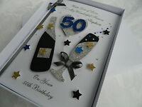 Handmade Personalised Birthday Card Boyfriend/Husband/Dad/Friend 21,30,40 Box 19