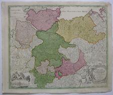 Niedersachsen Hamburg Braunschweig kolor Orig Kupferstichkarte Homann 1720