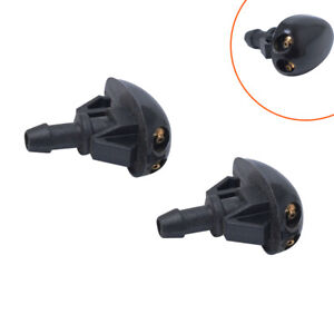 2x Plastic Car SUV Window Windshield Washer Spray Sprayer Nozzle Car Accessory W