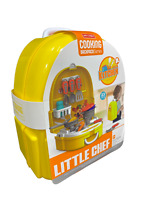 Backpack KIDS KITCHEN COOKING ROLE PLAY PRETEND TOY COOKER GAME SET LITTLE CHEF