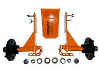 """Clip-On Shipping Container Wheels """"Full Transport KIT"""" Move 20/40ft Container"""