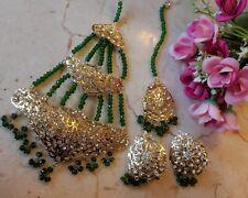 Stud Pakistani Bollywood hyderabadi jhumar Jewellery necklace Earrings set UK