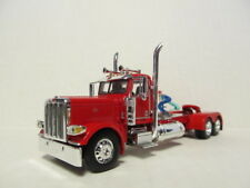 DCP 1/64 SCALE 389 PETERBILT DAY CAB  RED (LONG FRAME)  YELLOW ENGINE