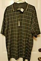 Mens Bolle Polo Golf Shirt Size L Plaid Short Sleeve New With Tags