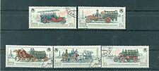 Russie - USSR 1984- Michel n. 5461/65 - Camions de pompiers