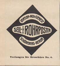 Hermosa montaña-Berlín, publicidad 1911, Lamson-Mix & tomara cuerda - & tubo-Post
