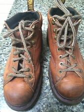 Dr. Martens Light Brown Leather Boots Size 7 Made in England Doc Martin Mens