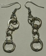 Handcuff Earrings Hand Cuff Tibetan Silver Hand Crafted