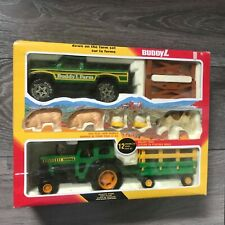 Vintage Buddy L Down On The Farm Set (1983) NEW Pickup Truck And Tractor Trailer