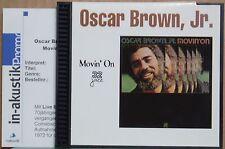 CD Oscar Brown Jr.  Movin' On  32 Jazz US 1999 rar + Promo-Beilage