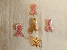 Breast Cancer Awareness Ribbons Lapel & Hat Pins or Tie Tacs # 2