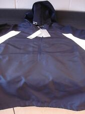 Women's CUTTER & BUCK NAVY JACKET 3/4 ZIP FRONT/HOOD MADE OF CBWINDTECH SIZE XL
