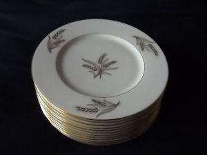 Lenox Harvest Bread plates (10 available)gold MINT