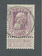 BELGIUM # 91 Used KING LEOPOLD II