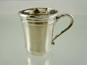 REED & KNOT BANDED BABY CUP SILVER .800 BY JAKOB GRIMMINGER 1895 GERMANY