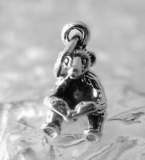 LOOK Bear reading book kids story time sterling silver charm