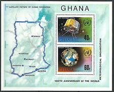 Ghana Int. meteorologische Zusammenarbeit Bl. 51A postfrisch 1973 Mi.Nr. 524-525