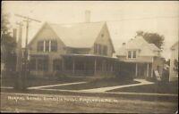 Farmington ME Normal School Domestic House c1920 Real Photo Postcard
