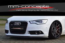 Cup Spoilerlippe für Audi A6 4G C7 Bj. 10-14 Front Spoiler Schwert Splitter IN