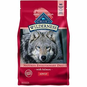 Blue Buffalo Wilderness High Protein Natural Adult Dry Dog Food Salmon 4.5-lb