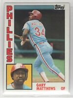 1984 Topps Baseball Philadelphia Phillies Complete Team Set