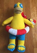 "Homer Simpson Swimming Plush Stuffed 17"" Doll The Simpsons NEW"