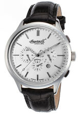 Ingersoll 2815SL Men's Mackinac Auto Ltd. Ed. Black Genuine Leather Silver-Tone