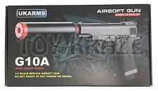 "BBGUN G10A METAL SHELL UKARMS SPRING POWER AIRSOFT PISTOL GUN 6mm BB 6"" [BLACK]"