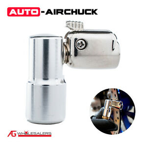 Auto Airchuck Tyre Chuck - 90° Angle 160Psi .  Tire Air Replacement or Upgrade