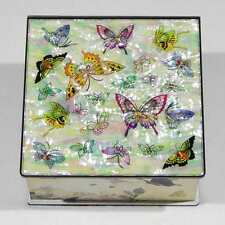 Korean Mother of Pearl Memo Cube with Butterfly